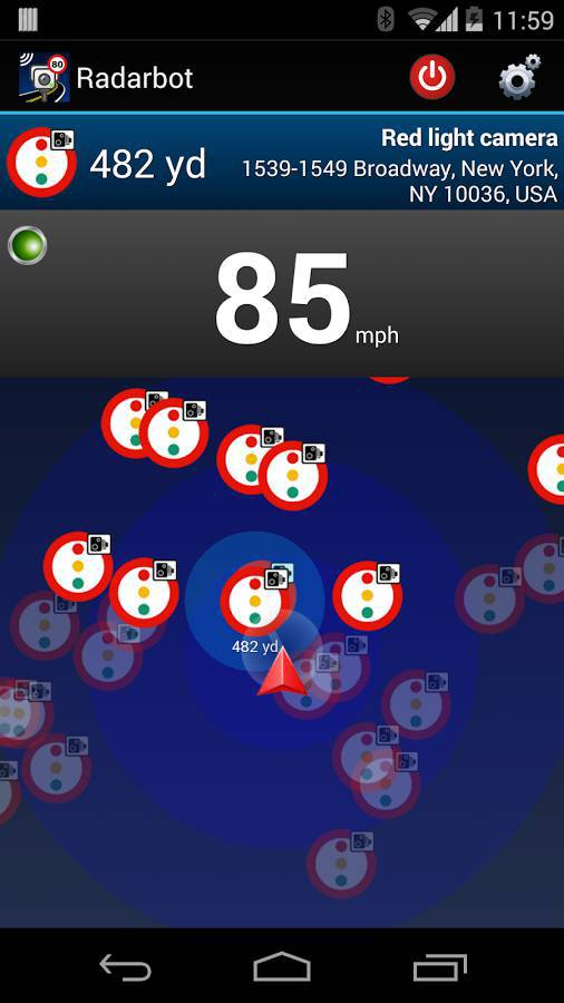 Sponsored App Review RadarbotSpeed Traps USA Androidheadlinescom - Us speed camera map