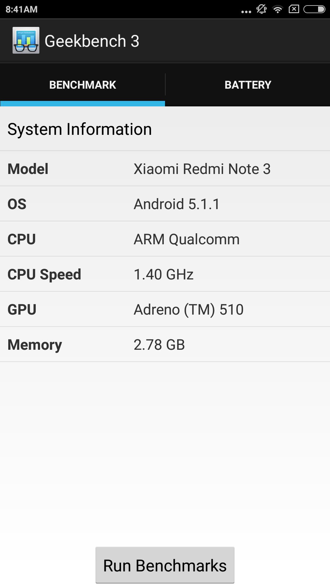 Redmi Note 3 Geekbench 1