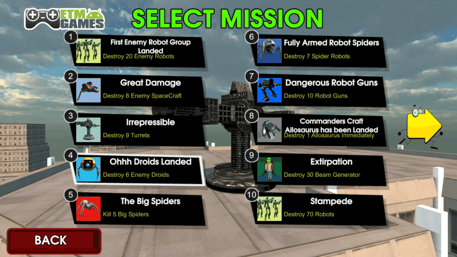 Robot Hell missions