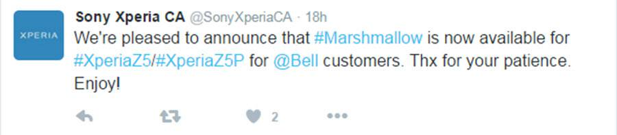 Sony Z5 Premuim Marshmallow Update