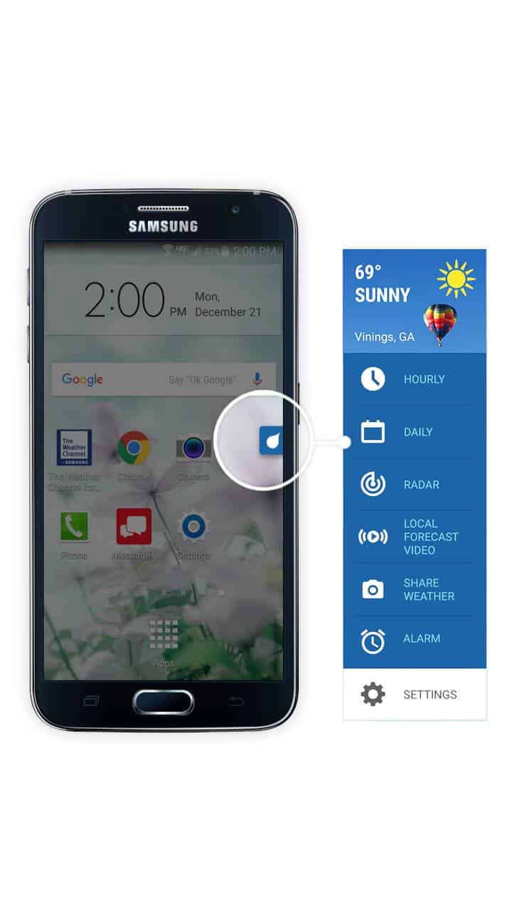 The Weather Channel app for Samsung 2