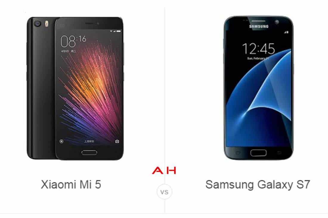 Xiaomi Mi5 vs Galaxy S7 cam AH