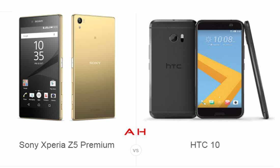 Xperia Z5 Premium vs HTC 10 cam AH