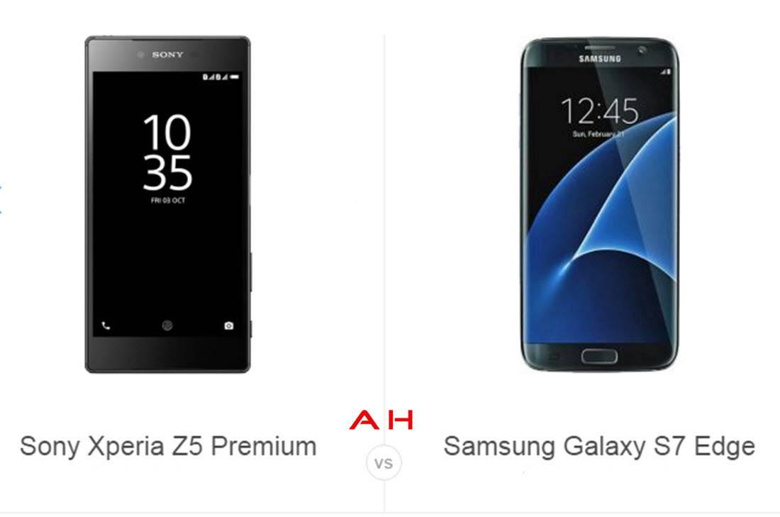 Z5 Premium vs S7 Edge cam AH