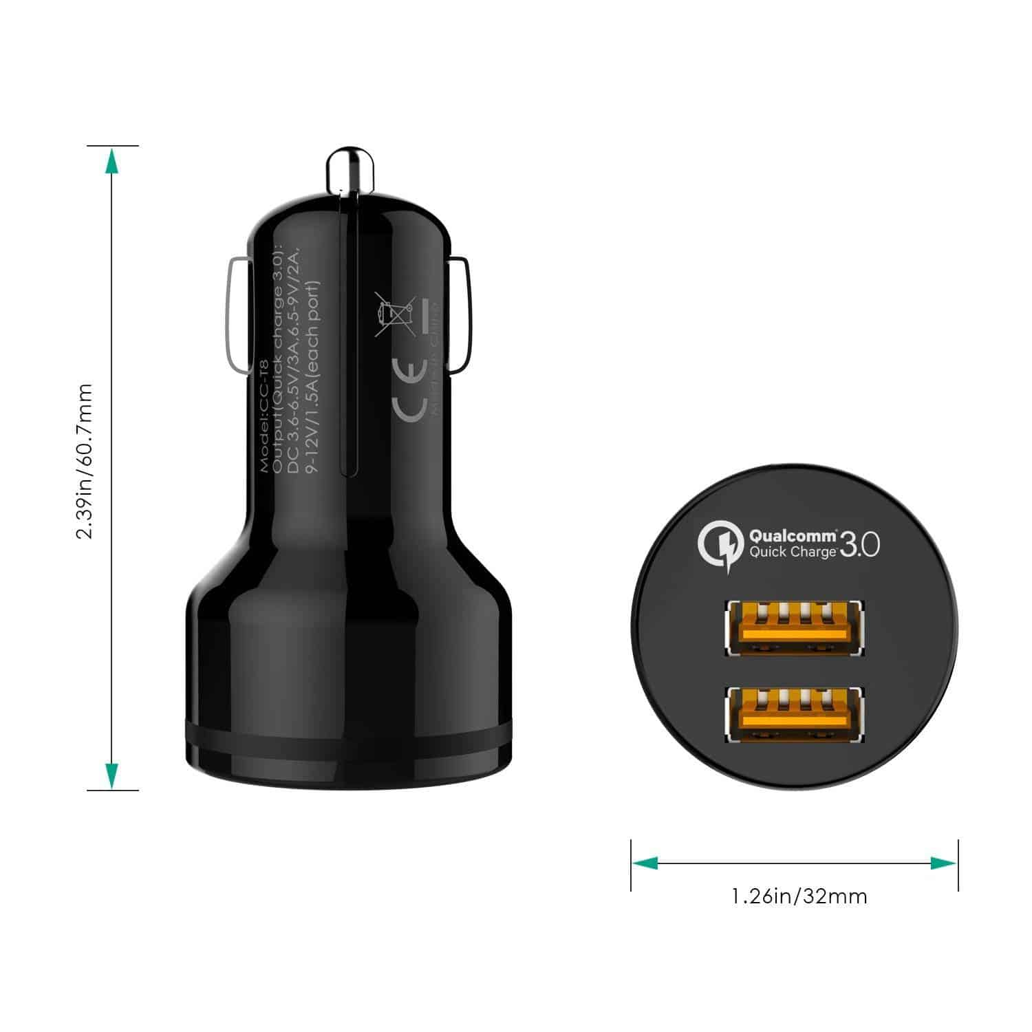 aukey qc3 car charger 9