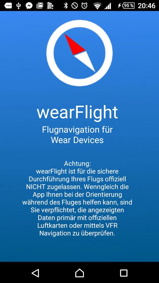 wearFlight Flightnavigation