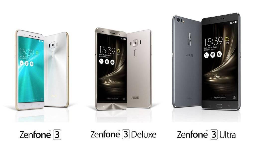 ASUS ZenFone 3 ZenFone 3 Deluxe and ZenFone 3 Ultra 2