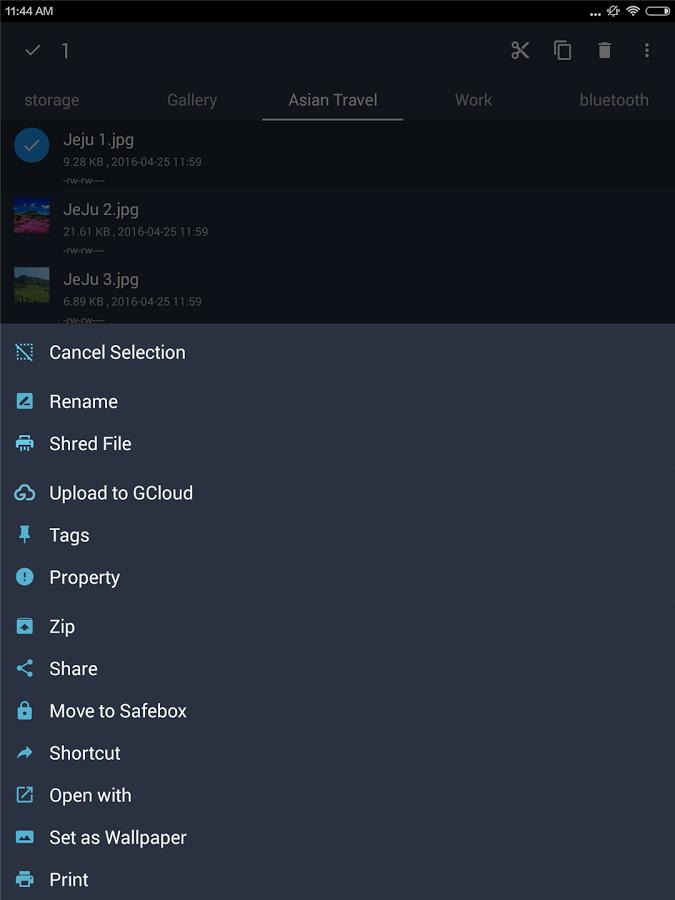 File Expert file menu