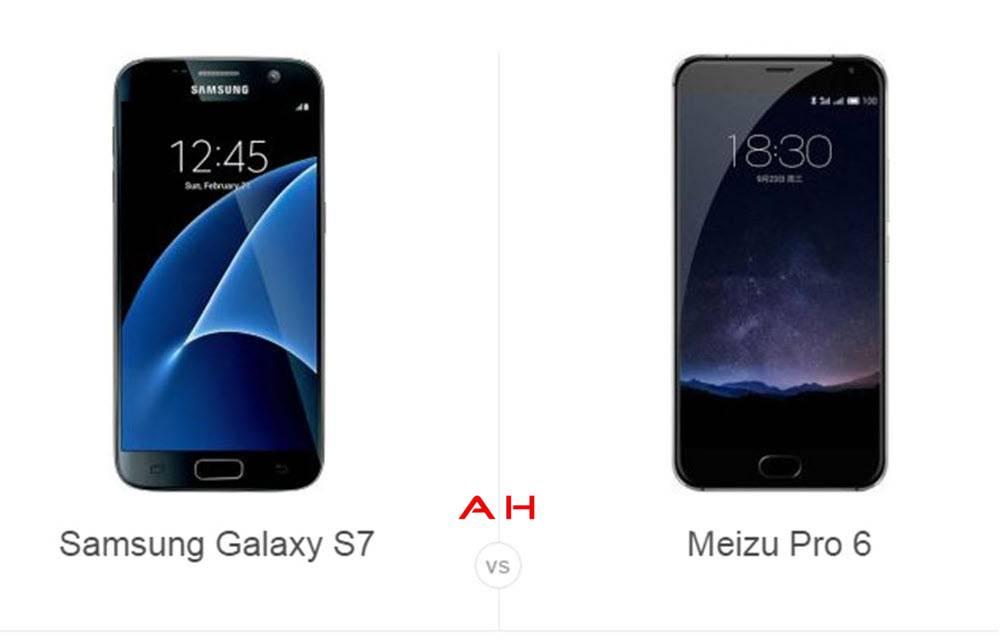 Galaxy S7 vs Meizu Pro 6 cam AH