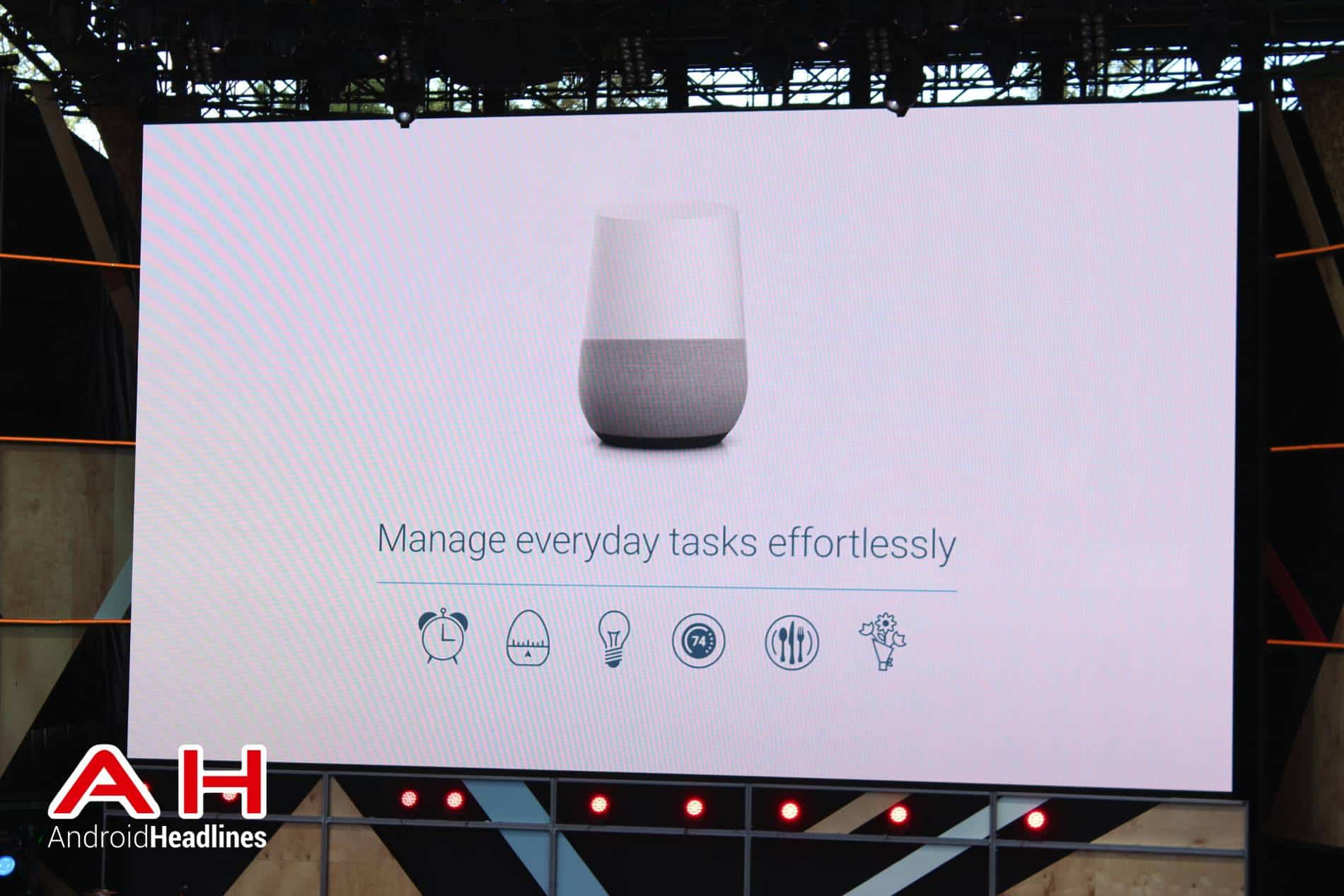 google officially announces google home smart speaker android news. Black Bedroom Furniture Sets. Home Design Ideas