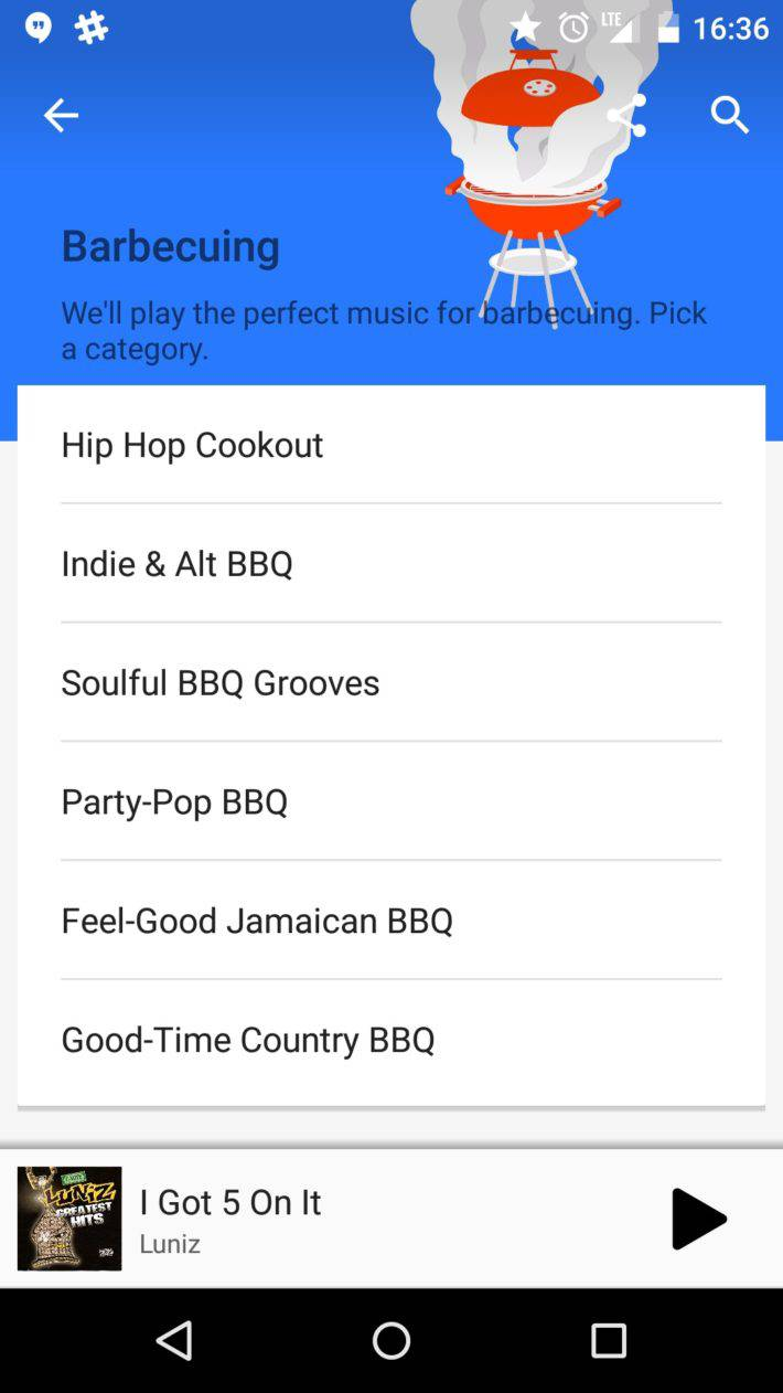 Google Play Music BBQ