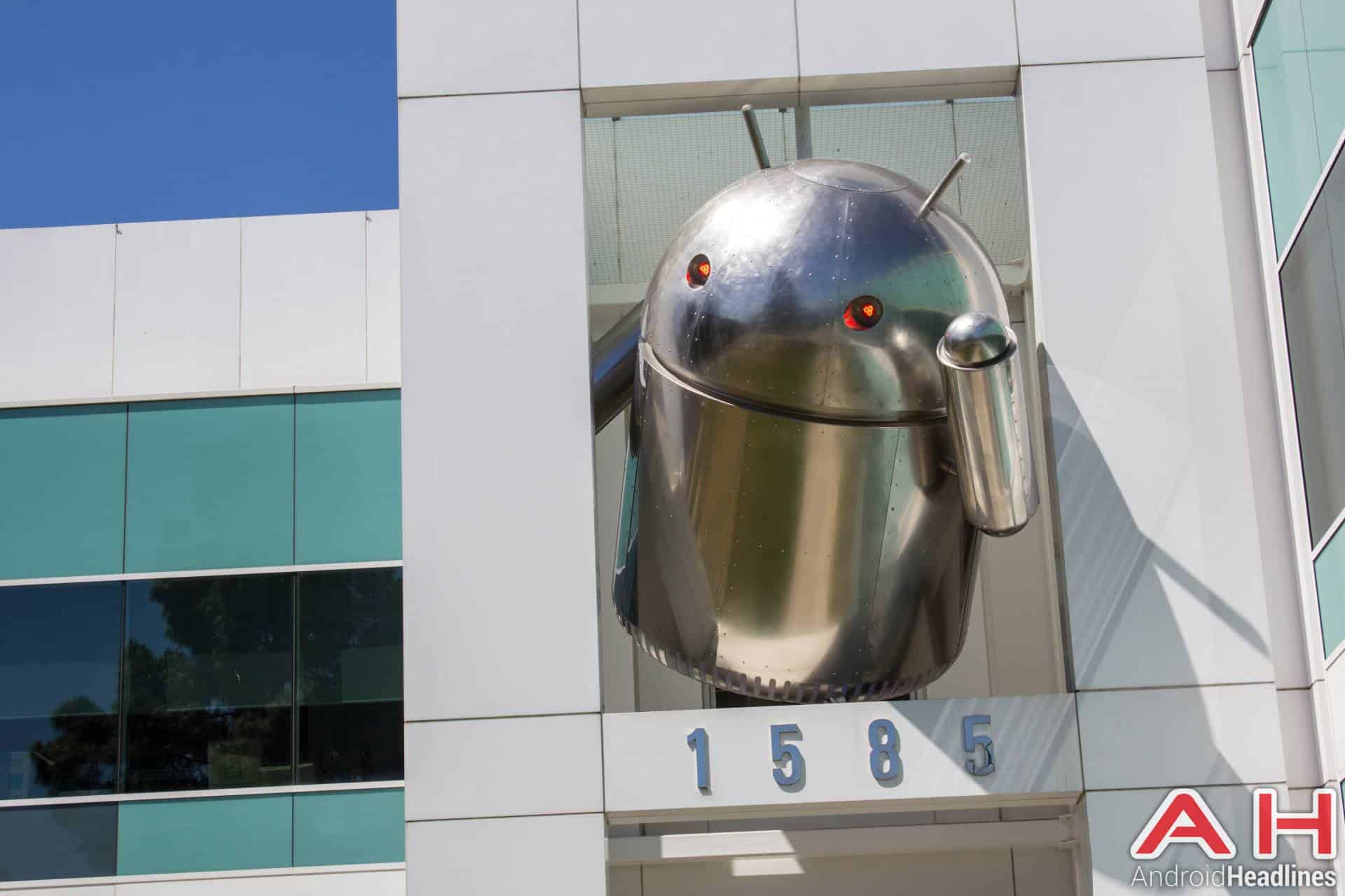 Google campus android statues chrome
