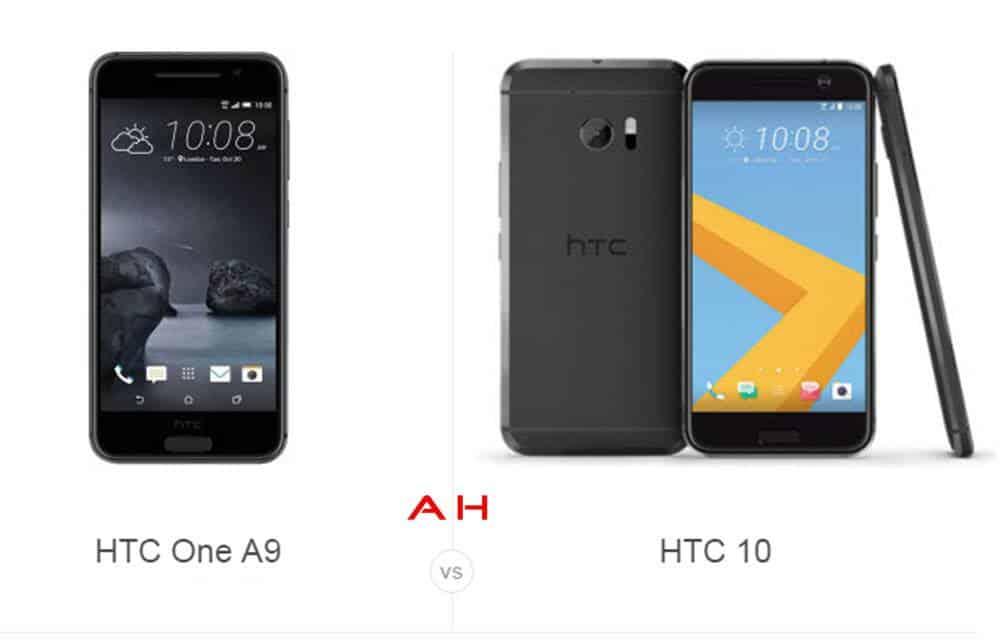 HTC A9 vs HTC 10 cam AH