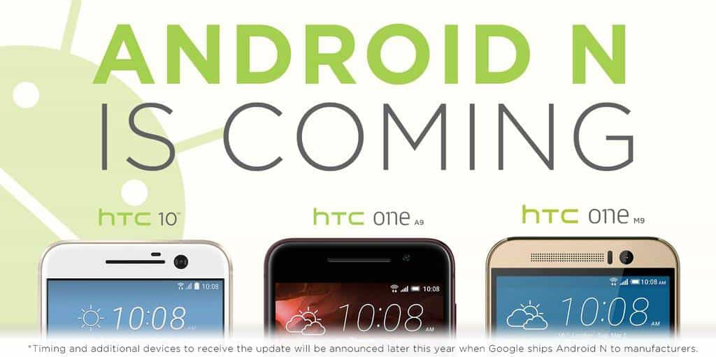 HTC announcement Android N HTC 10 One M9 One A9 KK
