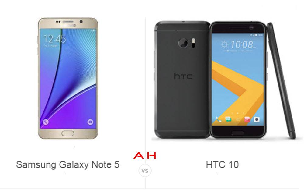 Phone Comparisons Samsung Galaxy Note 5 Vs HTC 10