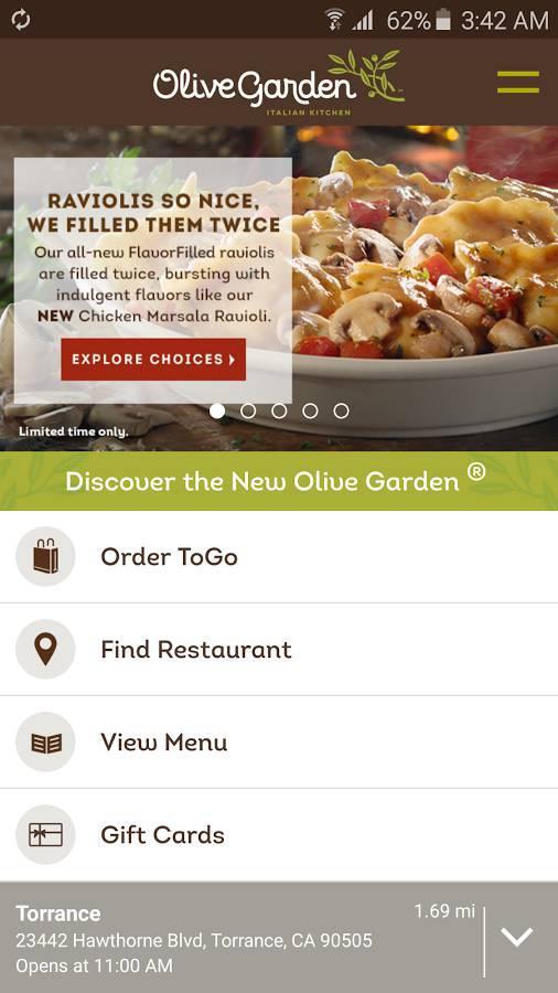 Olive Garden Togo.