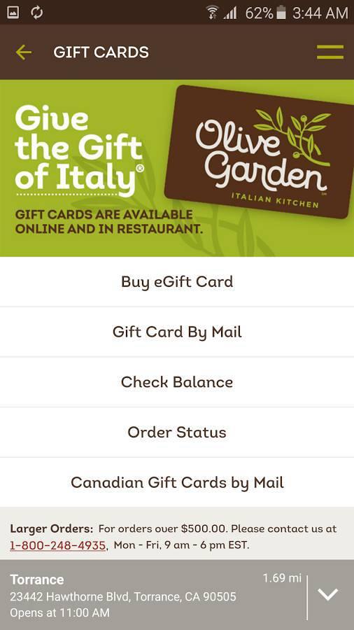 Find Restaurants & Order ToGo With The Olive Garden App ...