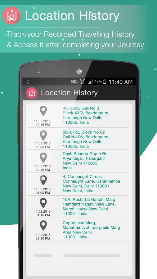 Route Finder history
