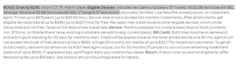 Samsung Galaxy S7 Active Bogo