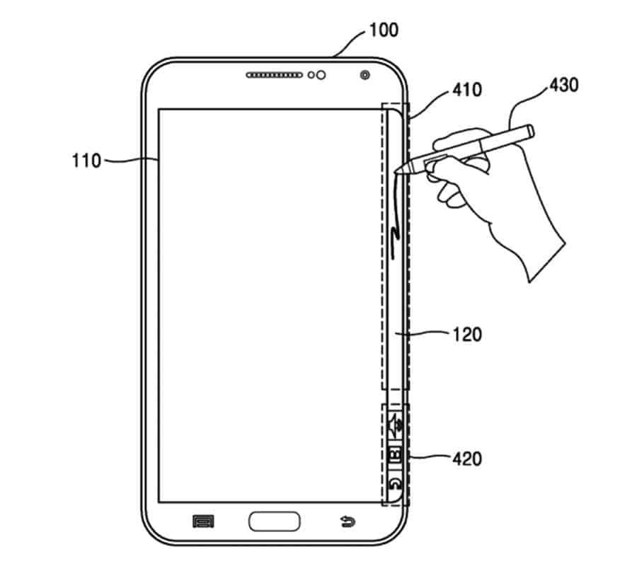 Samsung Patent Edge Writing