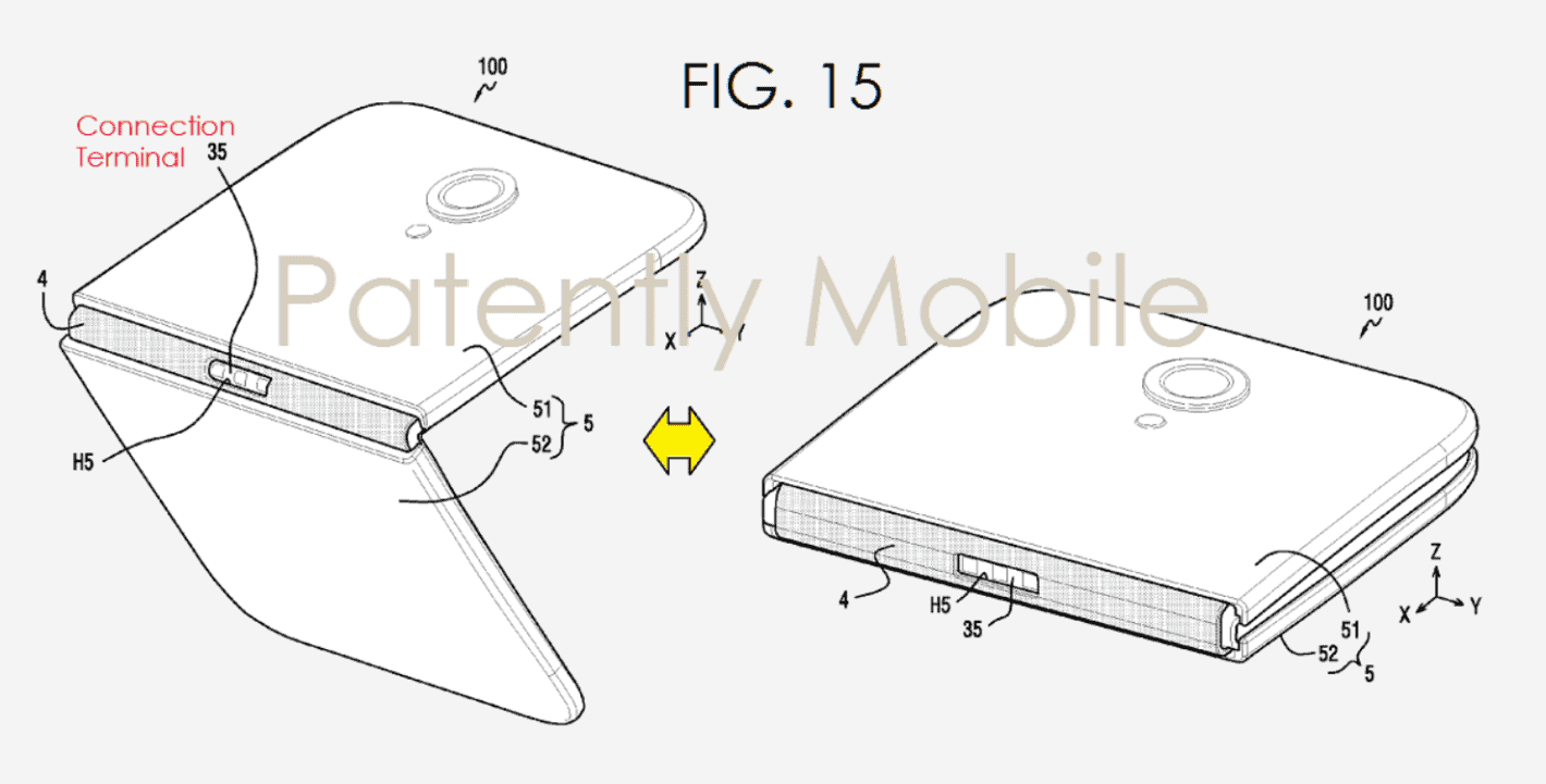 Samsungs foldable smartphone patent 1