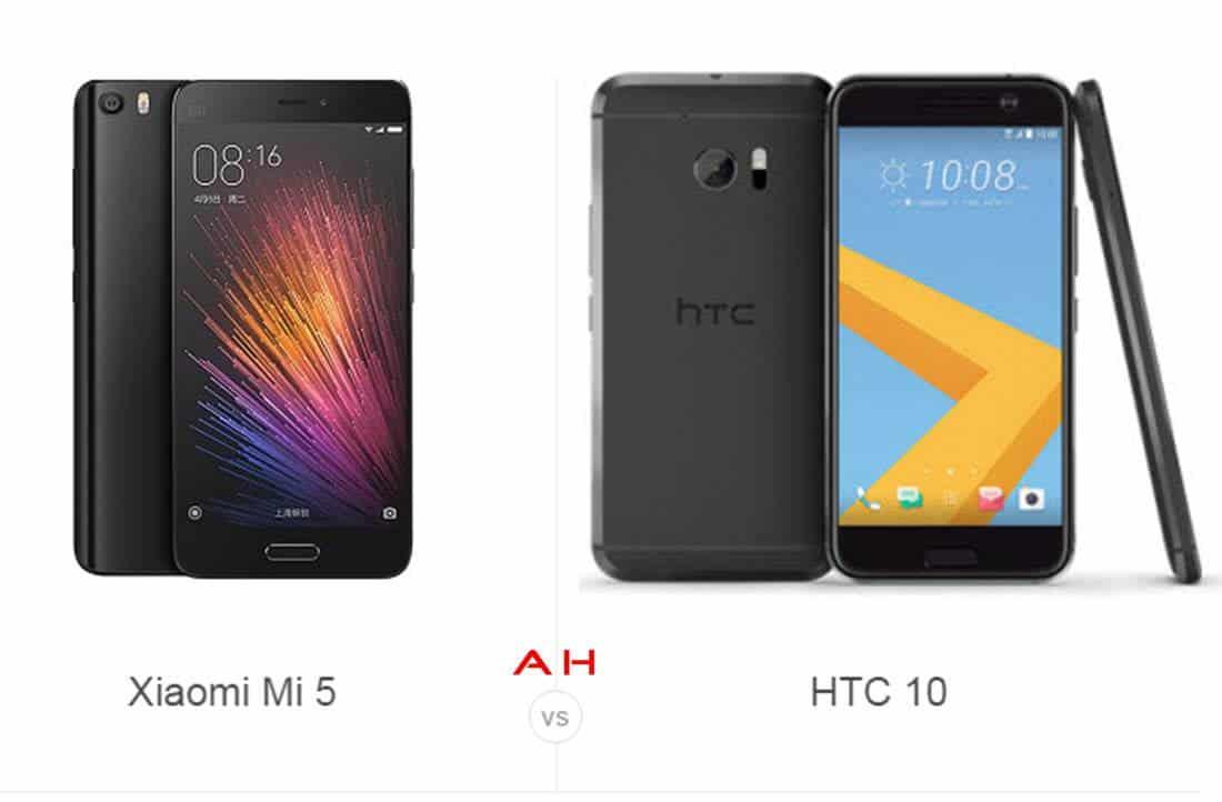 Xiaomi Mi 5 vs HTC 10 cam AH