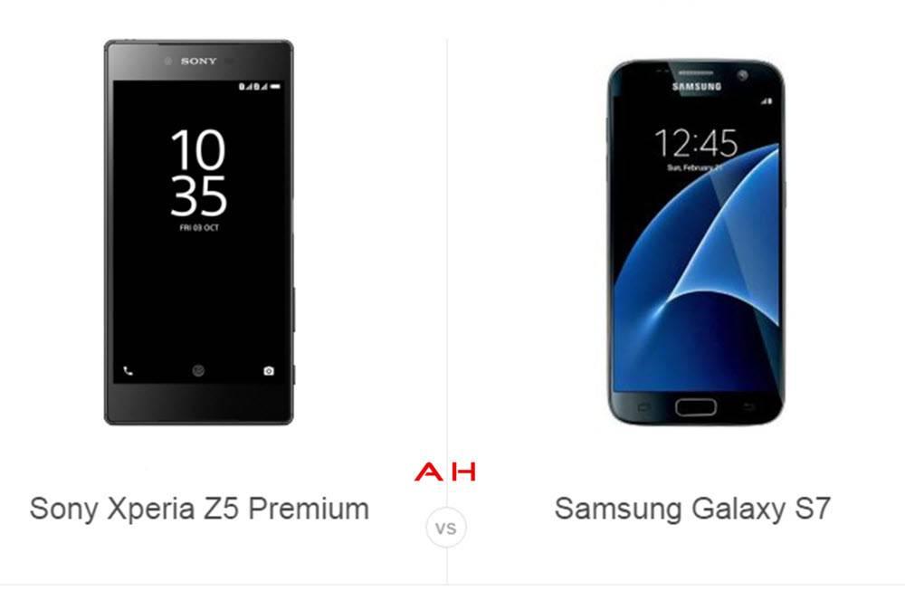 Xperia Z5 Prem vs Galaxy S7 cam AH