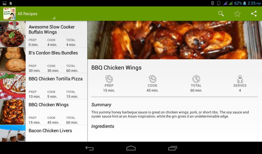 chicken wings cook book