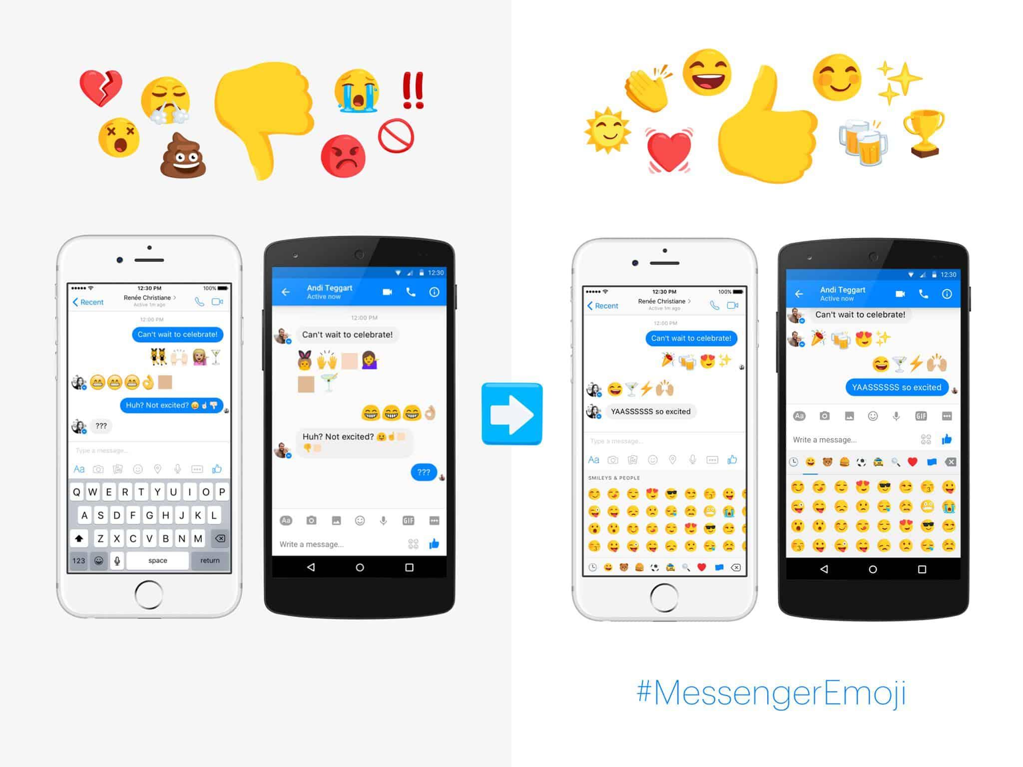 Facebook Messenger Diverse Emoji 2