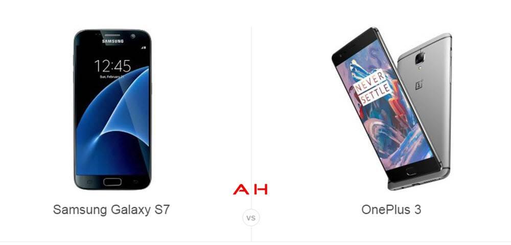 Galaxy S7 vs OnePlus 3 cam AH
