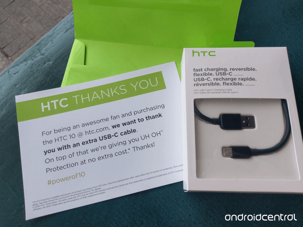 HTC 10 Free Cable