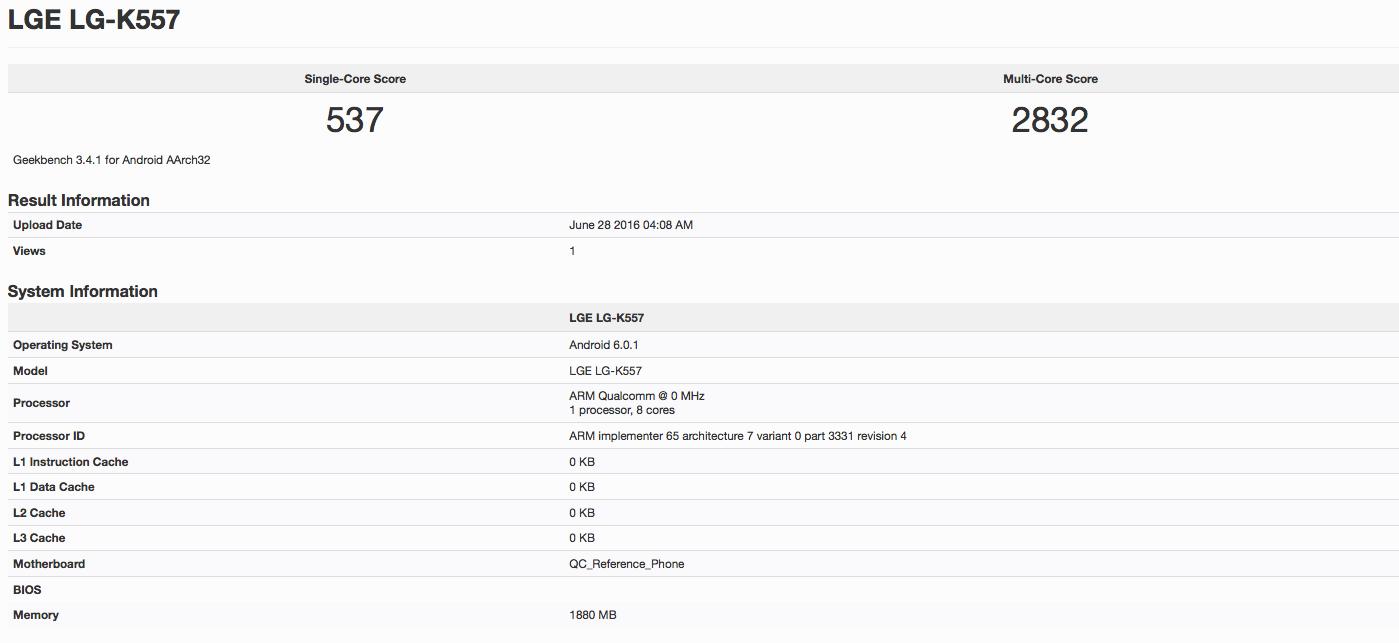 LG K557 GeekBench KK
