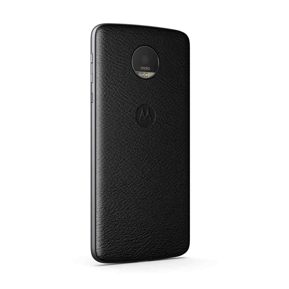 Moto Z Style Mod Black Leather