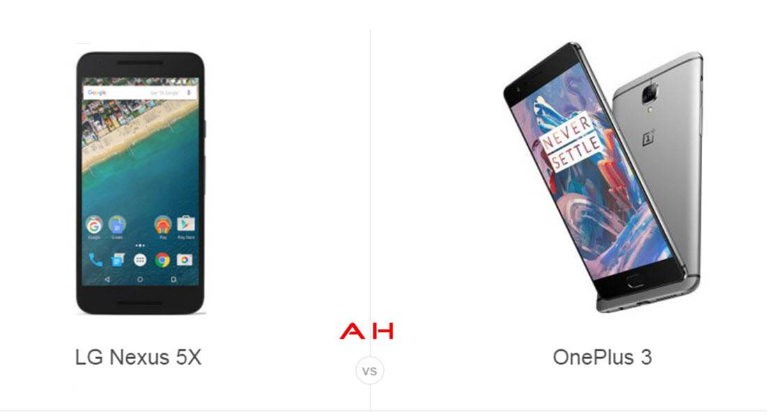 Nexus 5X vs OnePlus 3 cam AH