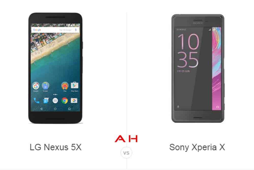 Nexus 5X vs Xperia X cam AH