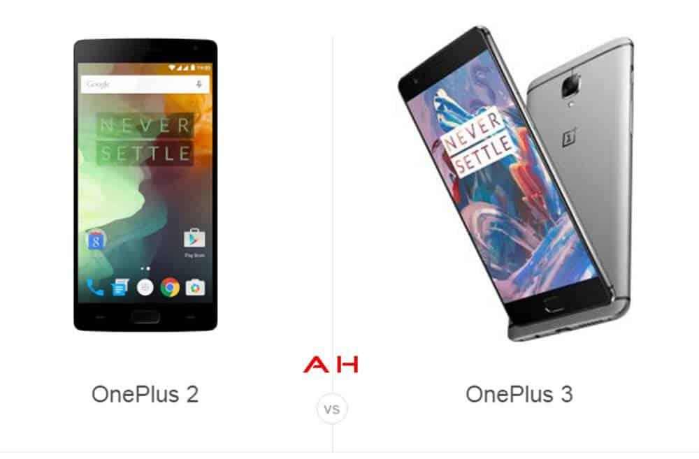 OnePlus 2 vs OnePlus 3 cam AH