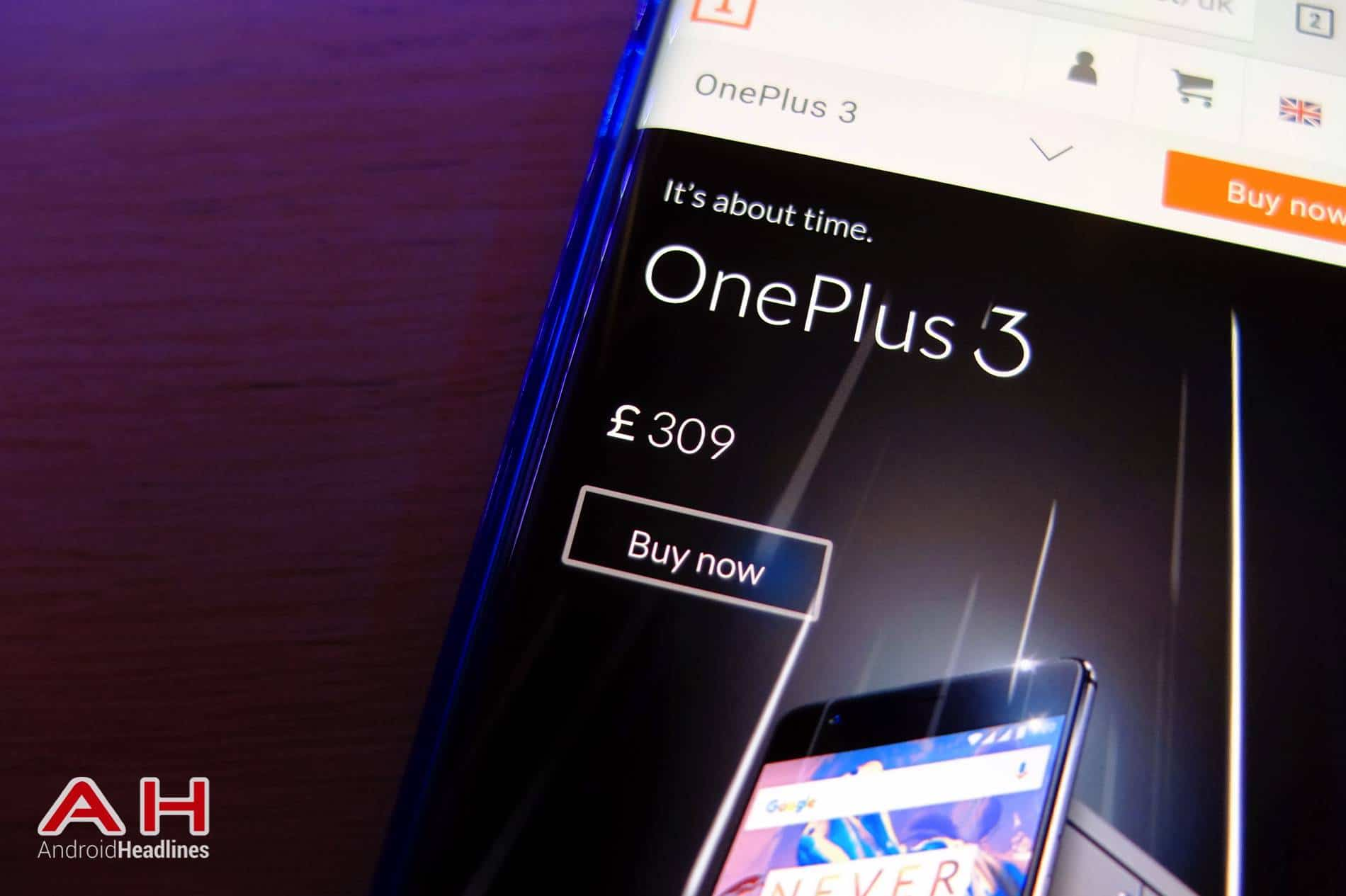 OnePlus 3 Buy Now AH