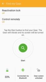 Samsung Gear Fit2 screenshots find watch