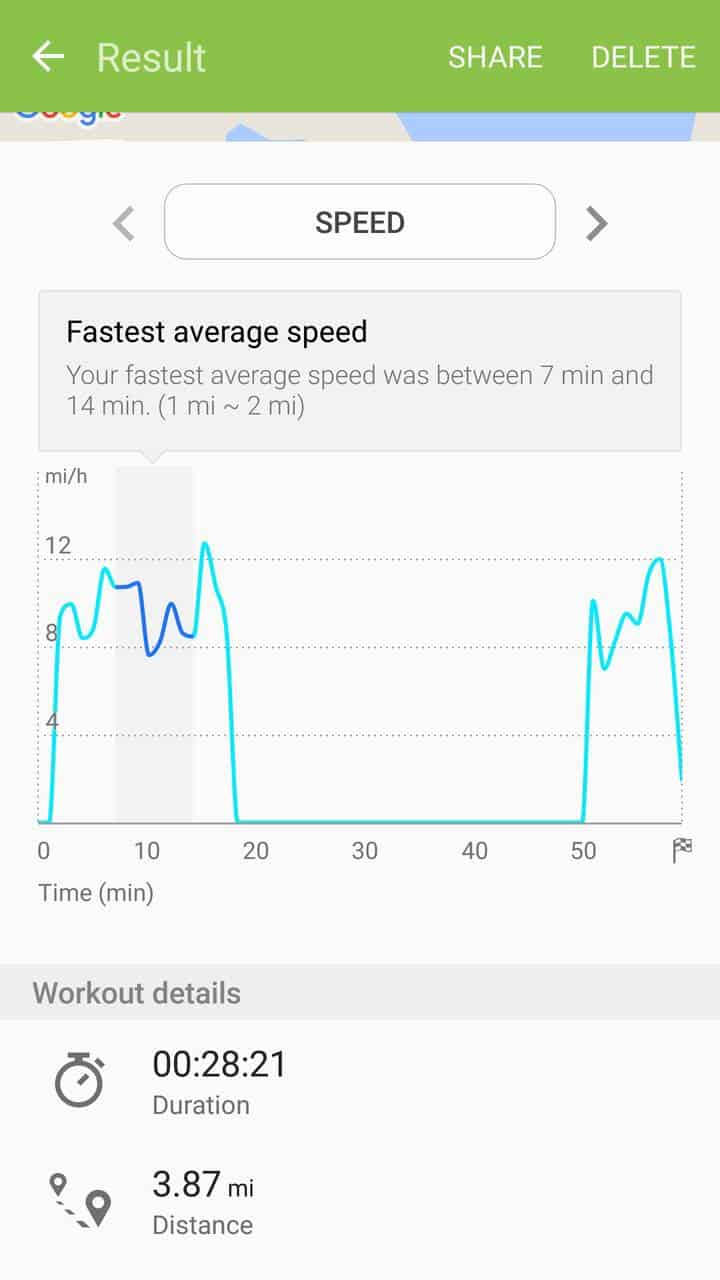 Samsung Gear Fit2 screenshots fitness tracking 03