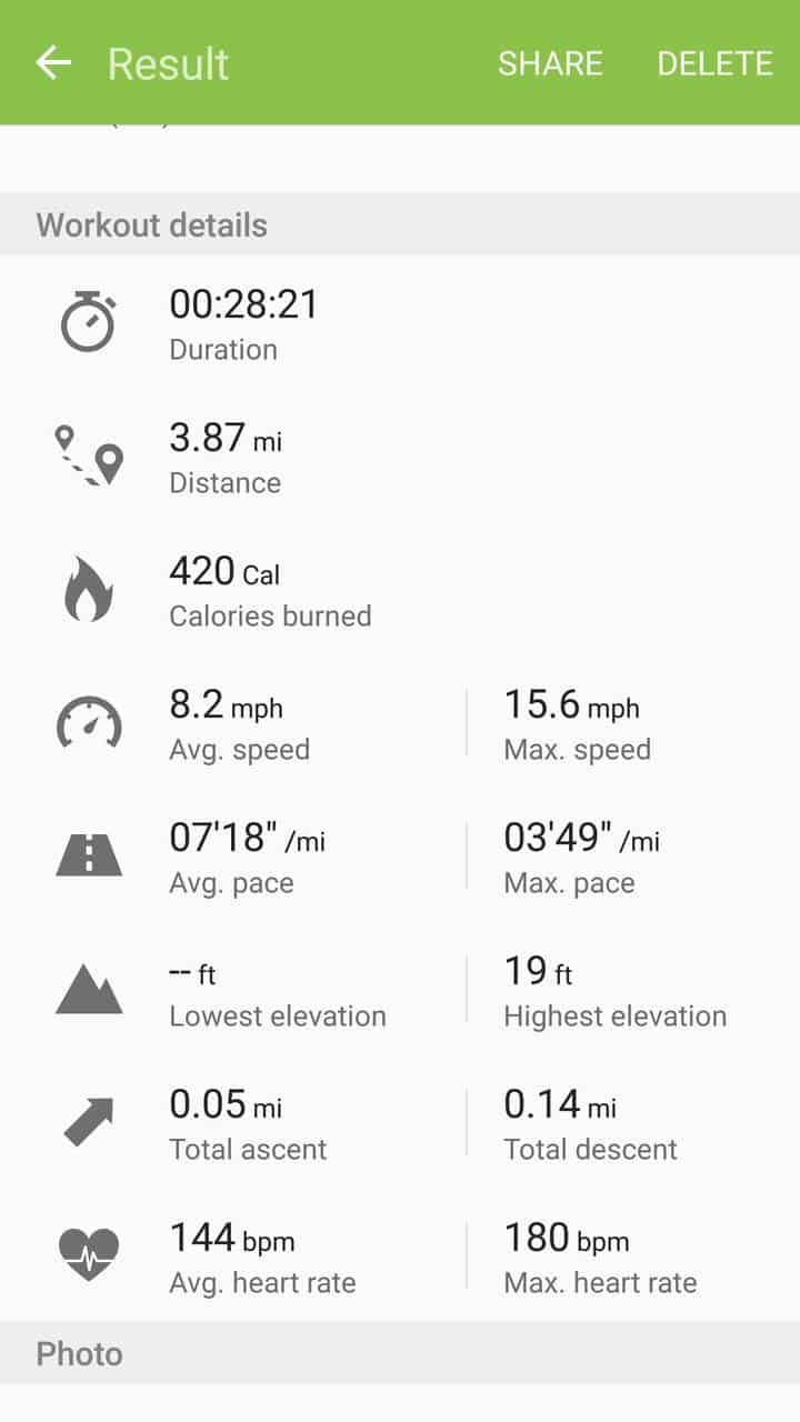 Samsung Gear Fit2 screenshots fitness tracking 04