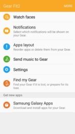 Samsung Gear Fit2 screenshots main