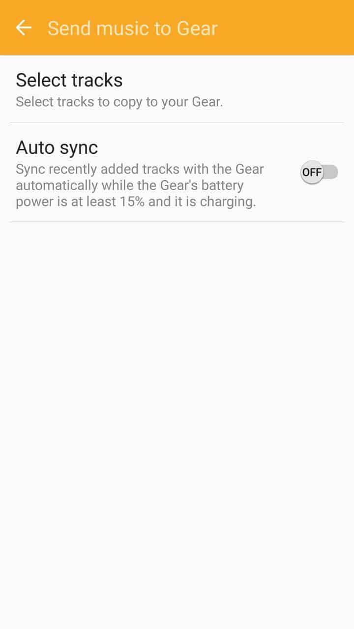 Samsung Gear Fit2 screenshots music