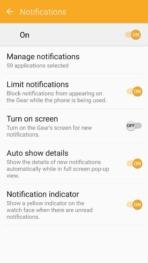 Samsung Gear Fit2 screenshots notifications 2