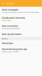 Samsung Gear Fit2 screenshots settings
