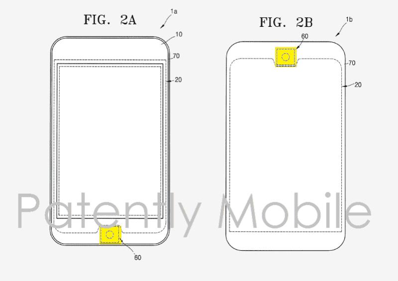 Samsung round front-facing fingerprint scanner patent_1
