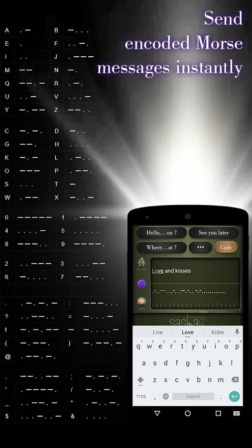 Sasha Morse Code Alphabet