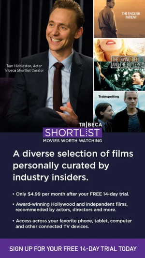 Tribeca Shortlist - Movies 01