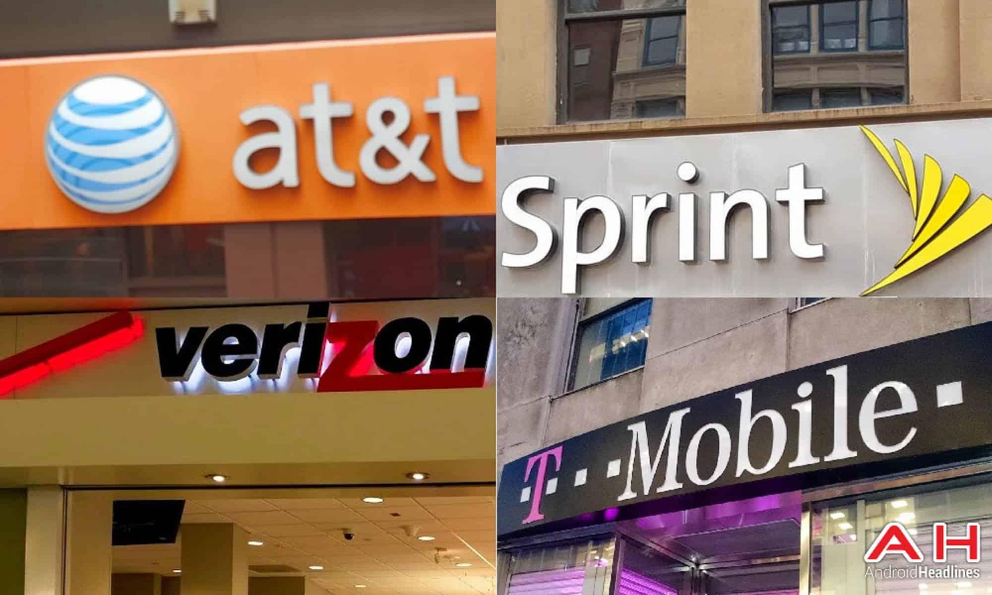 US Carriers T Mobile Verizon Sprint ATT AH