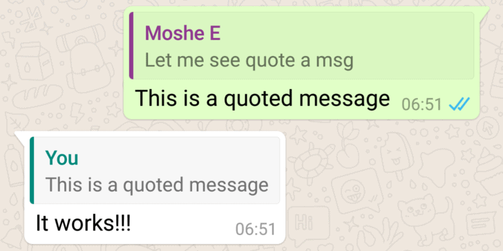 WhatsApp Quote Reply feature AP image 1