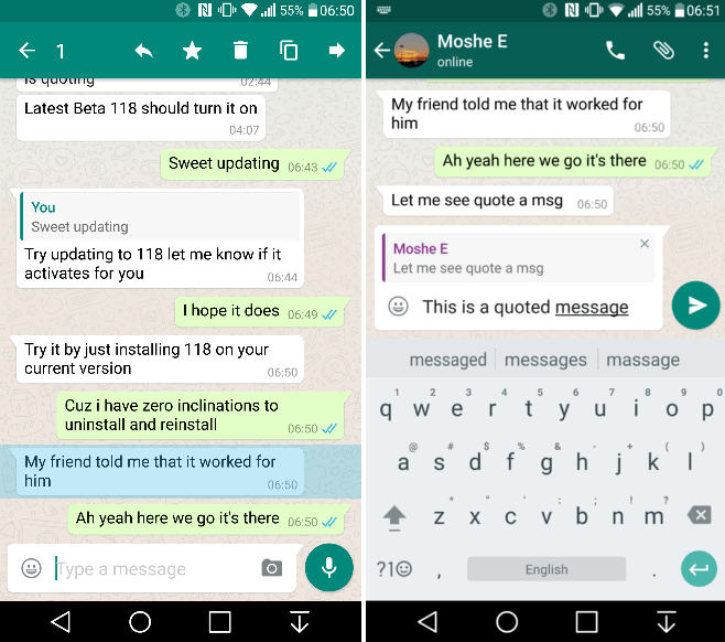 WhatsApp Quote Reply feature AP image 2